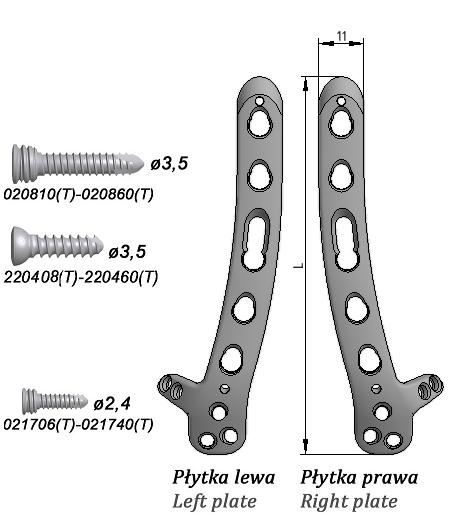 Płytka blokowana do nasady dalszej kości ramiennej, z grzbietowoboczną podporą