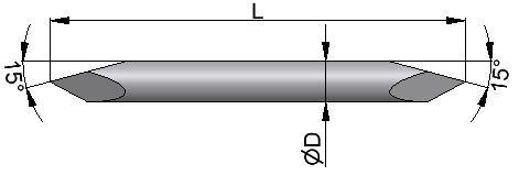 Drut Kirschnera z ostrzem obustronnym typu trokar