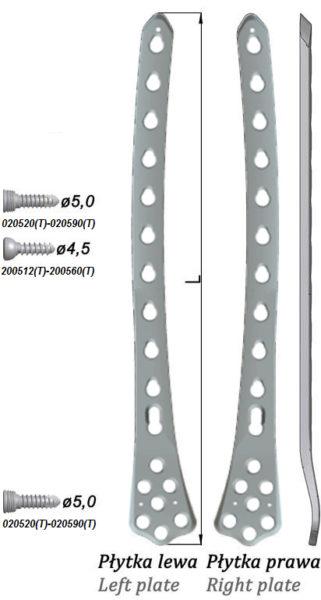 Płytka blokowana do nasady dalszej kości udowej