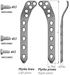 Płytka blokowana do nasady bliższej kości piszczelowej