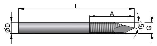 DrutKirschnera z ostrzem gwintowanym typu trokar