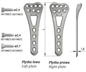 Płytka blokowana do nasady dalszej kości promieniowej, dłoniowa szeroka